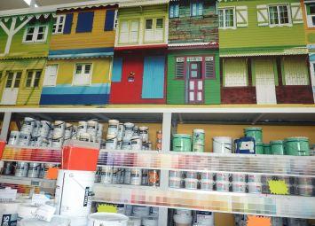 Linéaire peinture à SAPRO Guadeloupe