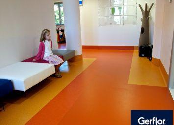 Revêtement de sol Gerflor hôpital Gaslini en Italie